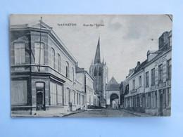 C.P.A. : WARNETON : Vue De L'Eglise, Maison De Change - Comines-Warneton - Komen-Waasten