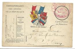 Correspondance Militaire Gloire à Nos Alliés   2 Scans   . .G - Guerre 1914-18