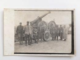 Foto AK Kanon Canon Geschutz Artillerie Soldats Francais - Guerre 1914-18
