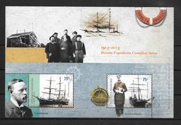 CORBETA URUGUAY RESCATE EXPEDICION CIENTIFICA SUECA 1903-2003 BUQUE POLAR ANTARCTIC  OTTO NORDENSKJOLD  JULIAN IRIZAR - Sellos