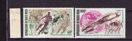 Haute Volta - Obervolta - Upper Volta Poste Aérienne 1970 Y&T N°PA78 à 79 - Michel N°299 à 300 * - Coupe De Football - Haute-Volta (1958-1984)