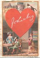 Chromo, Victorian Trade Card. LIEBIG S. 336. Carte Da Gioco 2, Asso Di Cuori. Cartes à Jouer 2, As De Coeurs. - Liebig