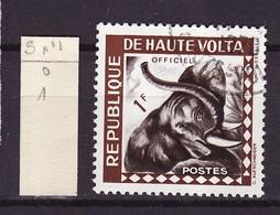 Haute Volta - Obervolta - Upper Volta Service 1963 Y&T N°S1 - Michel N°S1 (o) - 1f Tête D'éléphant - Haute-Volta (1958-1984)