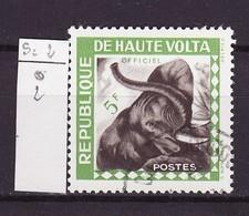 Haute Volta - Obervolta - Upper Volta Service 1963 Y&T N°S2 - Michel N°S2 (o) - 5f Tête D'éléphant - Haute-Volta (1958-1984)