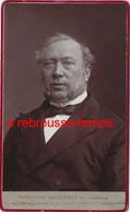 CDV-beau Portrait Au Charbon- Homme Au Regard Profond, Réaliste-- Par Nestor Schaffers  Rue Guinard à Gand-BELGIQUE - Old (before 1900)