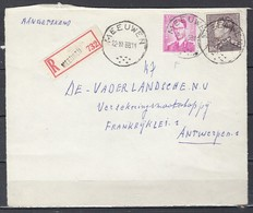 Aangetekend Briefstuk Van Meeuwen Naar Antwerpen - 1936-51 Poortman