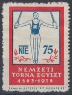Ring Gymnastics - 1938 Hungary LABEL CINDERELLA VIGNETTE Samum Altesse Cigarette Paper Cigar Box Industry - Gymnastik