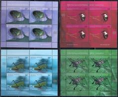 Argentina - 2002 - Insectes - Punaise Verte - Homard - Cascarudo Del Rosal - Perceuse - Blocks & Kleinbögen