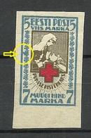 ESTLAND Estonia 1920 Michel 30 B Abart ERROR E: 11 Pos. 116 MNH - Estonie