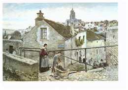 95 Pontoise Tableau Peintre Ludovic Piette Vue De Pontoise Prise En Haut De La Rue Du Chateau 1875 CPM - Pontoise
