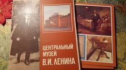 USSR Postcard Set  - Lenin Museum - 18 PCs Lot- Chess Table 1980s - Echecs