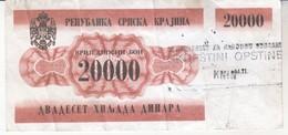 3788     BON   20000  DINARA   KNIN     RR - Croatie