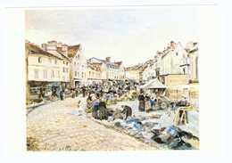 95 Pontoise Tableau Peintre Ludovic Piette Le Marché Du Petit Martroy 1877 CPM - Pontoise