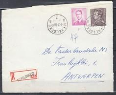Aangetekend Briefstuk Van Merelbeke A2A Naar Antwerpen - 1936-51 Poortman