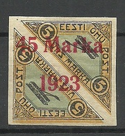 ESTLAND ESTONIA 1923 Michel 45 B II * Small Thinned Spot At Upper Margin - Estonia