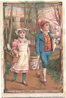 Chromo, Victorian Trade Card. LIEBIG S. 263. Scene Di Fanciulli. Scènes Infantines, Les Cadeaux Pour Grand'maman - Liebig