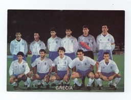 Postcard  1980years GREECE SOCCER TEAM SOCCER STADIUM CALCIO FUTBOL FOOTBALL - Soccer