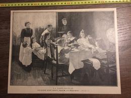 DOCUMENT 1897 LA SAINT NICOLAS UN DINER BIEN SERVI JC PHILIPAR QUINET - Vieux Papiers
