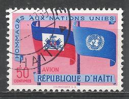 Haiti 1958. Scott #C133 (U) Flags Of Haiti And UN * - Haïti