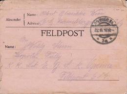 Feldpostbrief Wien Nach K.k. Eisenbahn Sicherungs Kompanie Opcina FP 614 - 1916 (39613) - 1850-1918 Imperium