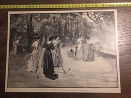 DOCUMENT 1897 UNE PARTIE DE CROQUET LEROY SAINT AUBERT - Old Paper