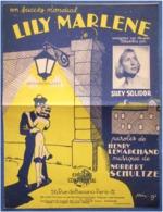 40 60 MILITARIA PIANO GF PARTITION LILY MARLÈNE LEMARCHAND HANS LEIP NORBERT SCHULTZE BILINGUE ALLEMAND 1940-42 MARINE - Musique & Instruments