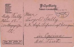 Feldpostkarte Wien Nach K.k. Eisenbahn Sicherungs Kompanie Opcina Bei Triest - 1916 (39617) - 1850-1918 Imperium