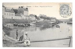 (23265-77) Meaux - La Marne - Baignade Des Chevaux - Meaux