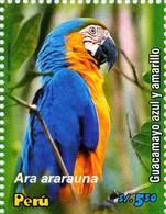 Lote P2006a, Peru, 2006, Sello, Stamp, Psitacidos Del Peru, Ara Araucana, Ave, Bird - Perú