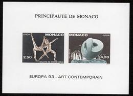 MONACO BLOC FEUILLET SPECIAL N° 20a NON DENTELE ART CONTEMPORAIN  1993 NEUF** LUXE RARE - Sculpture
