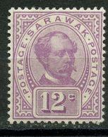 Sarawak 1899 12c Sir Charles Brooke Issue #42  MH - Sarawak (...-1963)
