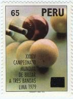 Lote P1979-1, Peru, 1979, Sello, Stamp, XXXIV Campeonato De Billar, Billiards - Perú