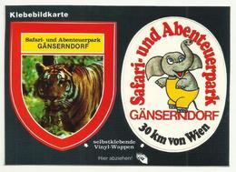 Ganserndorf Advertising Sticker Safari Und Abenteuerpark ,Elephant Tiger - Gänserndorf