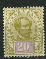 Sarawak 1900 20c Sir Charles Brooke Issue #44 - Sarawak (...-1963)