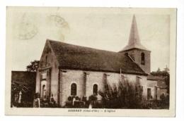 Aiserey - L'Eglise Au Milieu Des Tombes Du Cimetière - Circulé 1933 - France