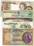 NOTAS - 5 EXEMPLARES  DE 20$00 E 50$00 - Portugal