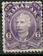 Sarawak 1895 6c Sir Charles Brooke Issue #30 - Sarawak (...-1963)