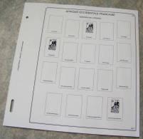 Feuilles Album AFRIQUE OCCIDENTALE FRANCAISE (9 Feuilles) Avec Page De Garde (Qualité Professionnelle) - Pré-Imprimés