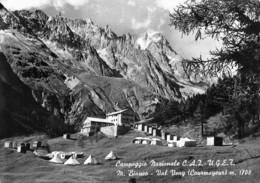 "07664 ""CAMPEGGIO NAZIONALE C.A.I.-U.G.E.T. - M. BIANCO - VAL VENY (COURMAYEUR) "" CART. ORIG. SPED.'958 - Italia"