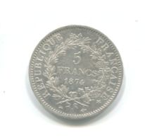 5 Francs Argent 1874A - France