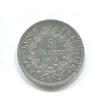 5 Francs Argent 1876A - France