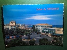 Cartolina Saluti Da Cattolica - Piazza I° Maggio - 1972 - Rimini