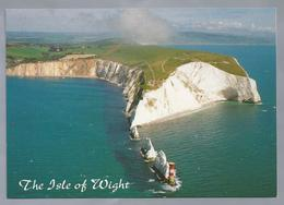 UK.- THE NEEDLES AND ALUM BAY FROM THE AIR, ISLE OF WIGHT. - Engeland