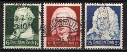 GERMANIA - TERZO REICH - 1935 - SCHUTZ, BACHE ED HANDEL - COMPOSITORI - USATI - Allemagne
