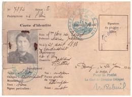 CARTE D'IDENTITE  N°7874 - AIN - 24 JUIN 1942 - Cartes