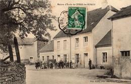 Cerre-les-Noroy  70   La Maison D'Ecole  Et La Cour Ecoliers Tres Tres Animée Avec Instituteur - France