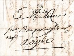 1820 - CETTE (34) - Lettre De SARRAN & BAZILLE à MM.BOSQUET & Fils & Cie à Agde - Historical Documents