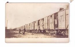 Guerre 14 18 WW1 Soldats Americains  Carte Photo  Depart En Train  140 Th Inf - Guerre 1914-18