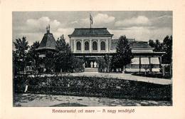 BICSAD / BIKSZÁD : BAIA MINERALA / GYÓGYFÜRDÖ - RESTAURANTUL CEL MARE / A NAGY VENDÉGLÖ ~ 1920 - '925 - RRR ! (aa567) - Romania