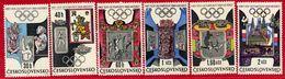CZECHOSLOVAKIA 1968 Olympic Games Set MNH / **.  Michel 1781-86 - Czechoslovakia